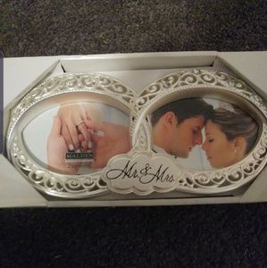 NIB infinity mr and mrs double picture frame